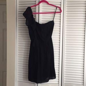 Kenneth Cole black chiffon dress